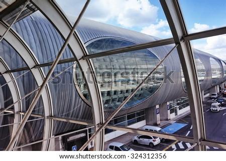 PARIS, FRANCE - 2 SEPTEMBER 2015: Charles de Gaulle Airport - stock photo