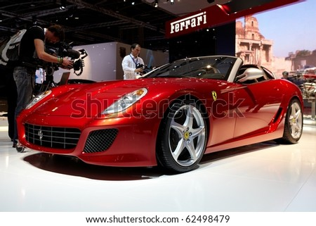 PARIS, FRANCE - SEPTEMBER 30:Ferrari SA APERTA at Paris Motor Show on September 30, 2010 in Paris - stock photo