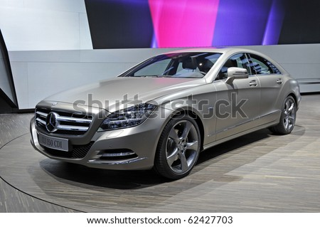 PARIS, FRANCE - SEPTEMBER 30: Mercedes CLS 350 at Paris Motor Show on September 30, 2010, at the Paris Expo-Porte de Versailles - stock photo