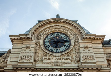 PARIS, FRANCE - 02 SEPTEMBER, 2015: Orsay modern art Museum in Paris, France. - stock photo