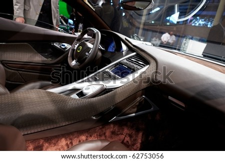 PARIS, FRANCE - SEPTEMBER 30: Paris Motor Show on September 30, 2010 in Paris, showing Lotus Elite, interior view