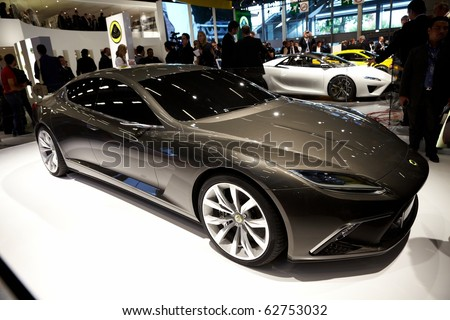 PARIS, FRANCE - SEPTEMBER 30: Paris Motor Show on September 30, 2010 in Paris, showing Lotus Eterne, front view