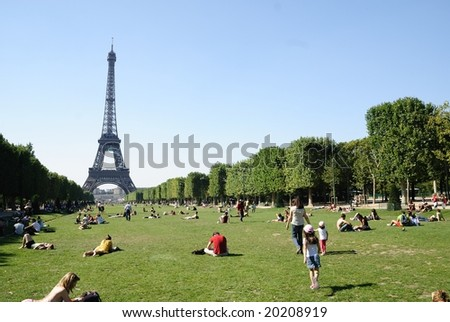 PARIS, FRANCE - SUMMER 2007: Paris is one of the most popular tourist destinations in the world, with over 30 million foreign visitors per year. - stock photo