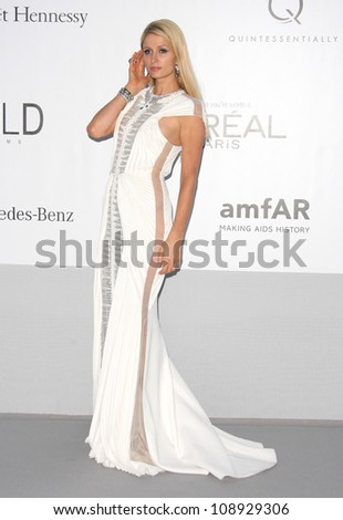 Paris Hilton arriving at AmfAR's Cinema Against Aids gala 2012 during the 65th annual Cannes Film Festival, Cannes, France. 24/05/2012 Picture by: Henry Harris / Featureflash - stock photo