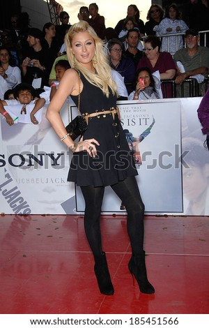 Paris Hilton at Michael Jackson's THIS IS IT Premiere, Nokia Theatre LA LIVE, Los Angeles,, CA October 27, 2009 - stock photo