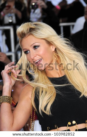 Paris Hilton at the Los Angeles Premiere of 'This Is It'. Nokia Theatre, Los Angeles, CA. 10-27-09 - stock photo