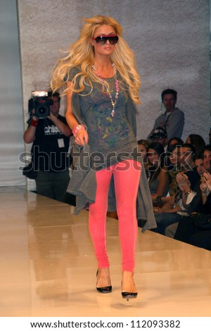 Paris Hilton inside at the 2B Free Fall 2007 Collection Fashion Show. Boulevard 3, Hollywood, CA. 03-19-07 - stock photo