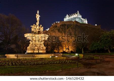 Paris in night - stock photo