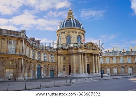 Paris, Institute de France historic building. French Academy of Sciences - stock photo