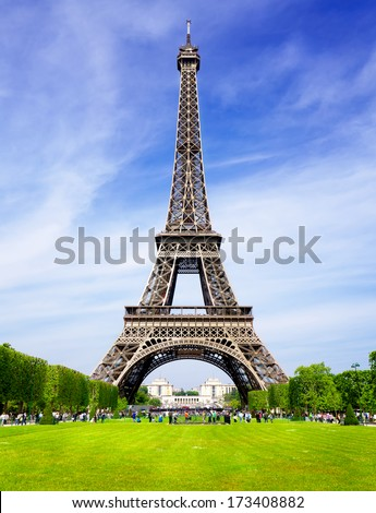 Paris love Tower - stock photo