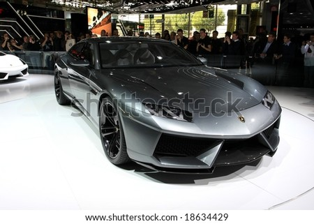 Paris Motor Show 4-19 October 2008: the Lamborghini Estoque Concept - stock photo