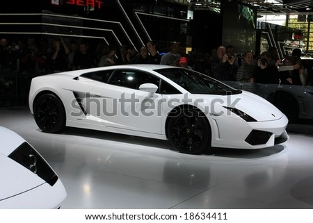 Paris Motor Show 4-19 October 2008: the Lamborghini Gallardo - stock photo