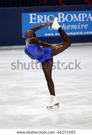 PARIS - NOVEMBER 26: Mae Berenice MEITE of France performs at ladies free skating event of the ISU Grand Prix Eric Bompard Trophy, November 26, 2010 at Palais-Omnisports de Bercy, Paris, France.
