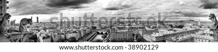 Paris panoramic - stock photo