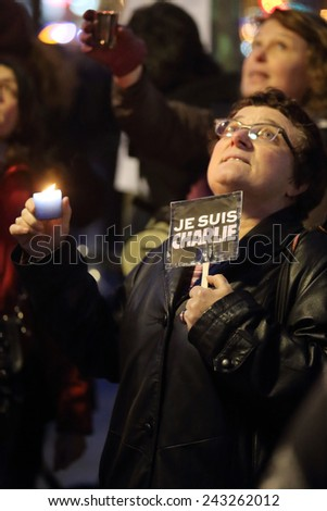 Paris rally against Radical Islam terror 2015-01-11 - stock photo