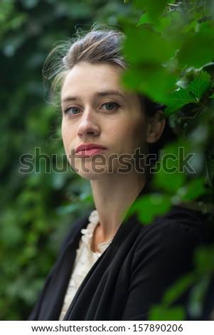 Parisian girl, Paris, France - stock photo