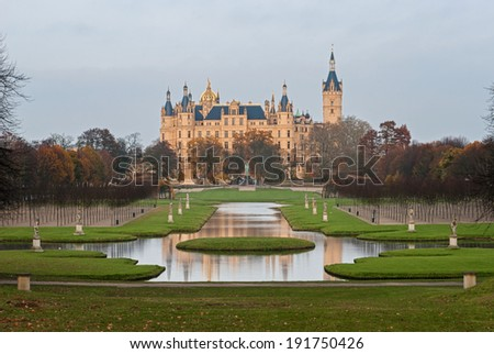 Park at Schwerin Palace, Germany