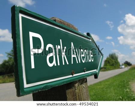 PARK AVENUE - stock photo