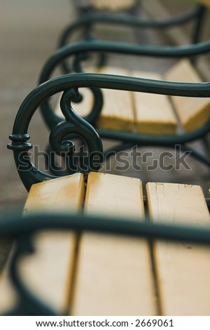 Park benches - stock photo