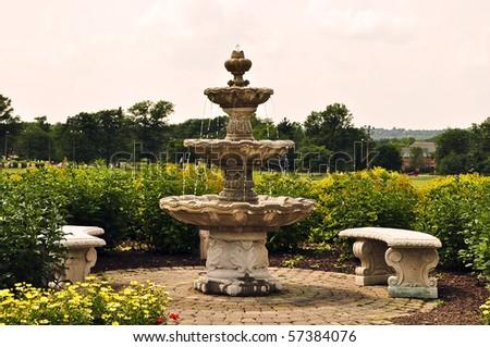 Park Fountain - stock photo