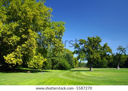 park in Budapest, Hungary - stock photo
