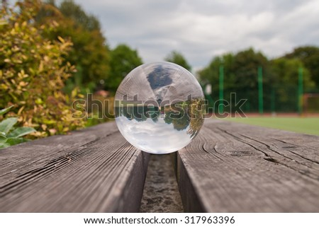 Park in glass ball - stock photo