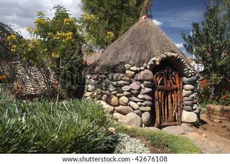 Park in Huancayo; Peru - stock photo