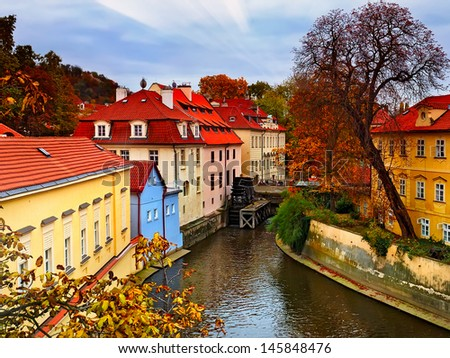 park in the old town Praha - stock photo