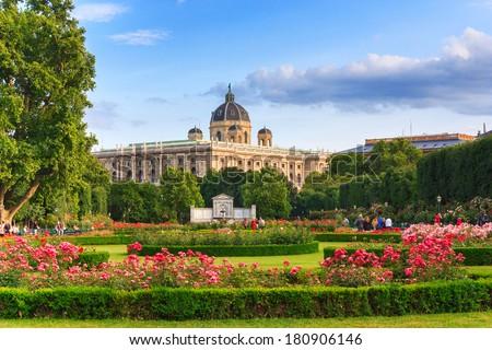 Park in Vienna Austria horisontal - stock photo