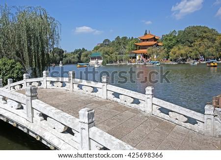 Park landscape of China   - stock photo