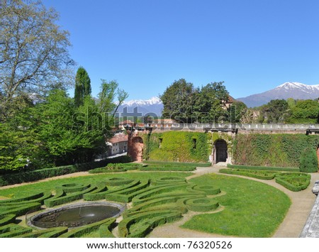 Park of the Aglie castle of Elisa di Rivombrosa, Piedmont, Italy