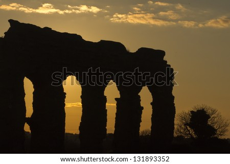 Park of the Aqueducts, Rome - Italy - stock photo