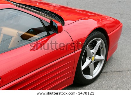 Parked sports car - stock photo