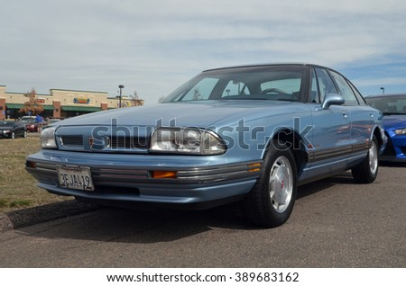 PARKER, COLORADO: MARCH 12, 2006: OLDSMOBILE 88 FROM CALIFORNIA