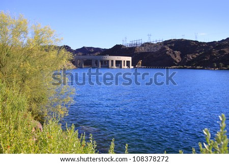 Parker dam on lake Havasu in Arizona - stock photo