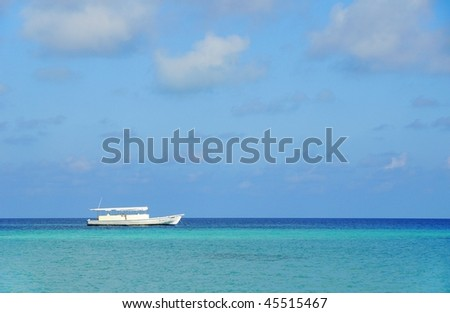 parking boat at sea