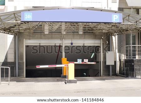 Parking entrance corridor  - stock photo