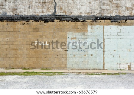 parking lot wall - stock photo