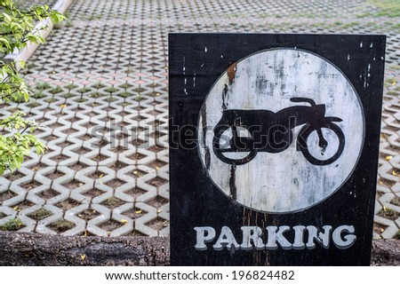 parking motorcycle - stock photo