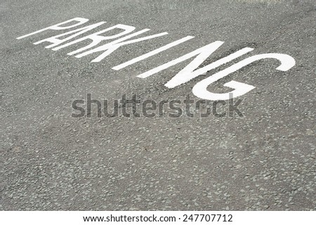 Parking Road Surface Sign - stock photo