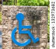 Parking sign for disable people - stock photo