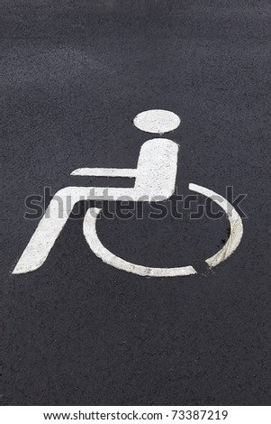 parking sign for disabled people. - stock photo