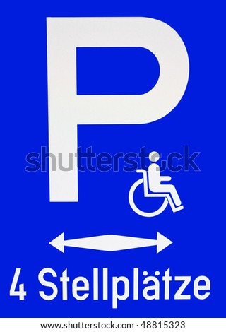 Parking sign for persons with disabilities