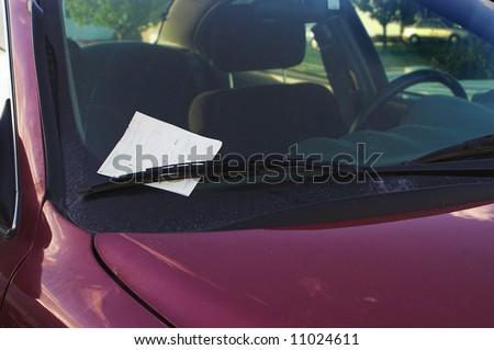 Parking Ticket - stock photo