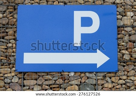 Parking traffic sign - stock photo