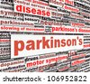 Parkinson's disease message design. Mental health symbol concept - stock photo