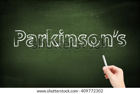Parkinsons written on a blackboard