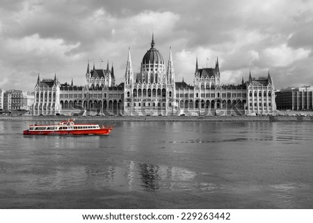 Parliament building in Budapest, Hungary - stock photo