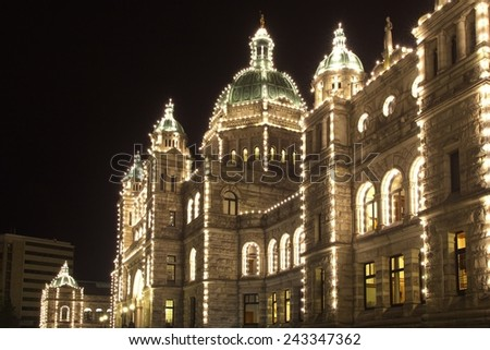 Parliament Building, Victoria - stock photo
