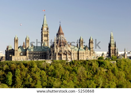 Parliament Hill Canada Sunset - stock photo